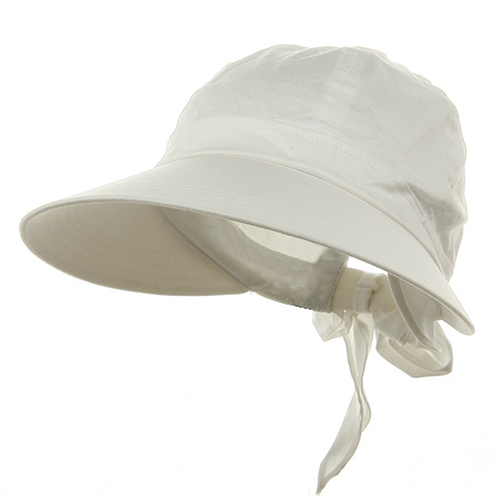 Solid Large Peak Hats-White - Hats and Caps Online Shop - Hip Head Gear