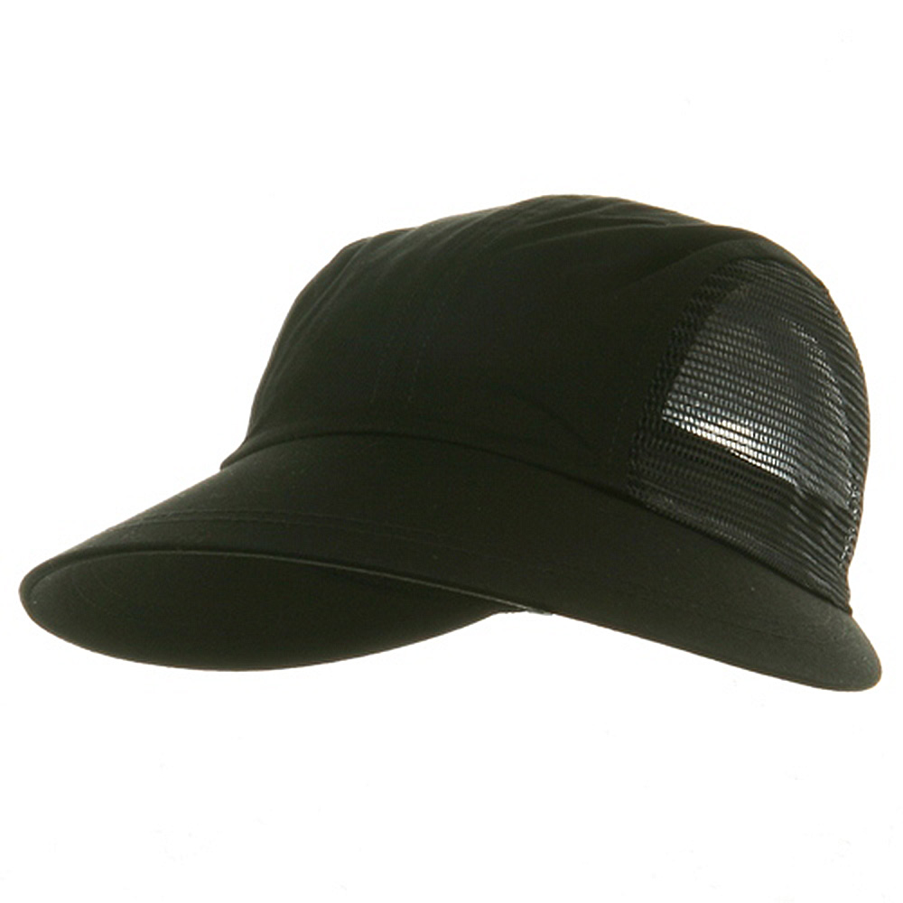 Solid Large Mesh Peak Hats-Black - Hats and Caps Online Shop - Hip Head Gear