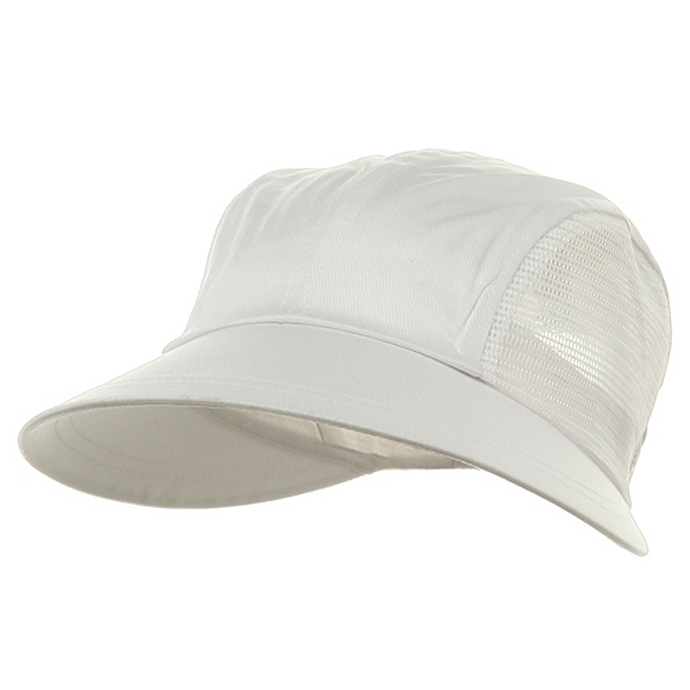 Solid Large Mesh Peak Hat-White - Hats and Caps Online Shop - Hip Head Gear