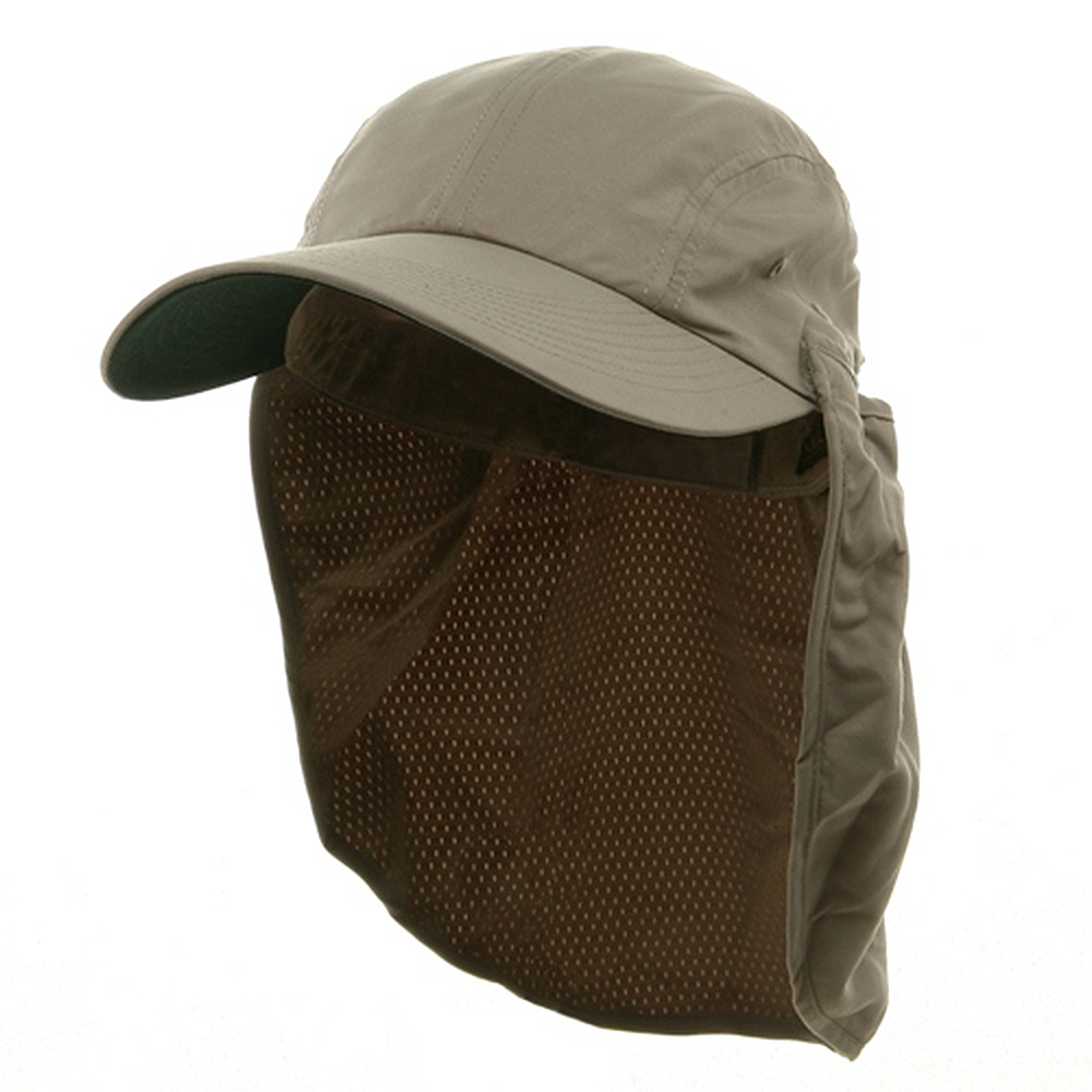 Microfiber Flap Hats-Khaki - Hats and Caps Online Shop - Hip Head Gear