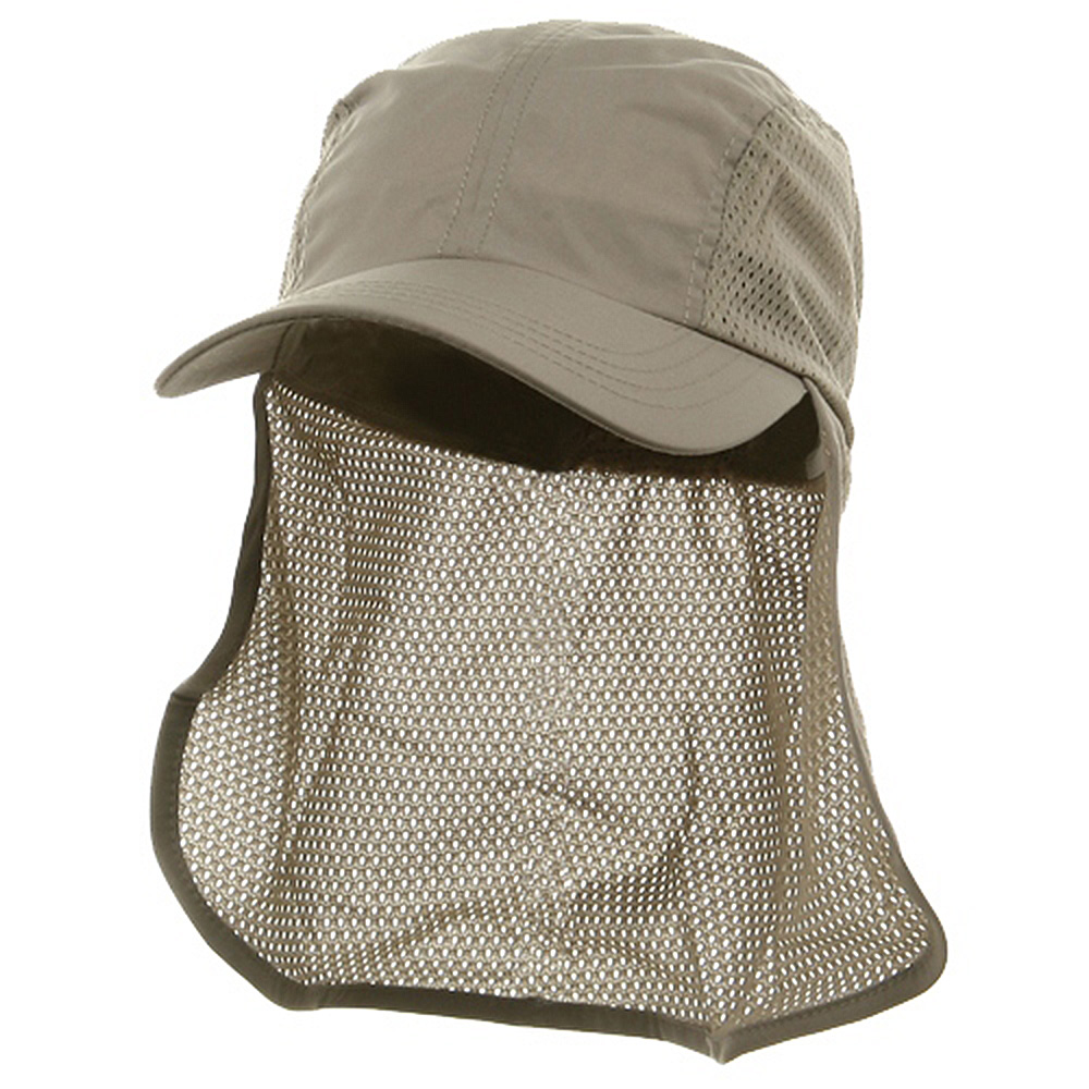 Flap Hat (01)-Khaki - Hats and Caps Online Shop - Hip Head Gear