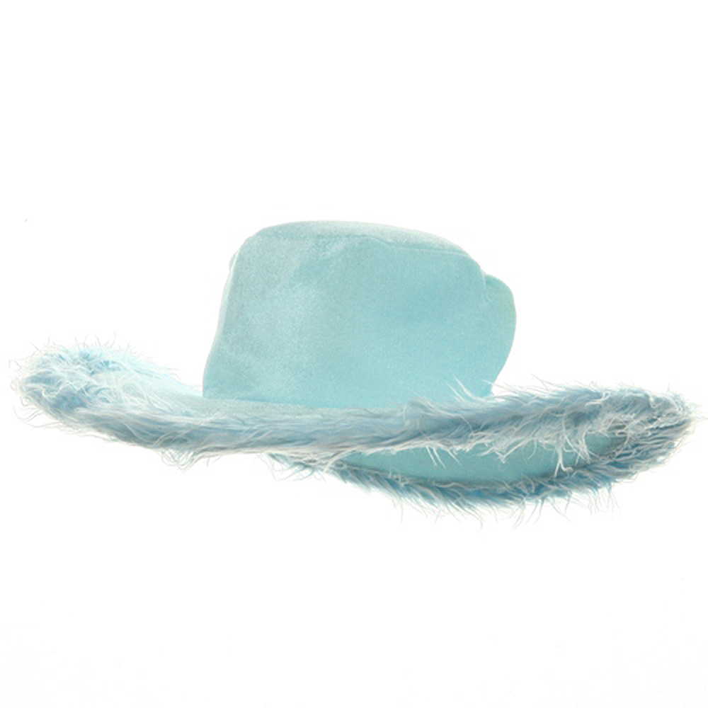 Velvet Pimp Hat-Sky - Hats and Caps Online Shop - Hip Head Gear