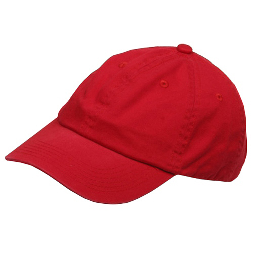 Youth Washed Chino Twill Cap-Red - Hats and Caps Online Shop - Hip Head Gear