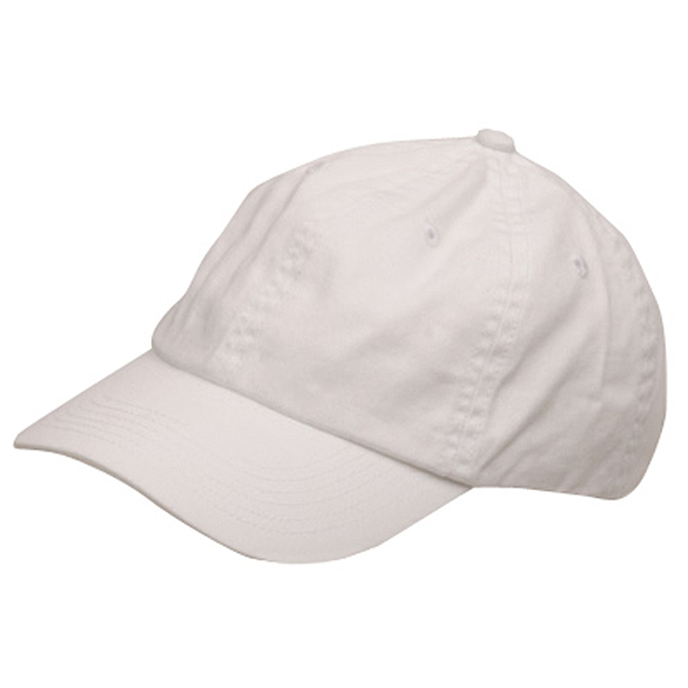 Youth Washed Chino Twill Cap-White - Hats and Caps Online Shop - Hip Head Gear