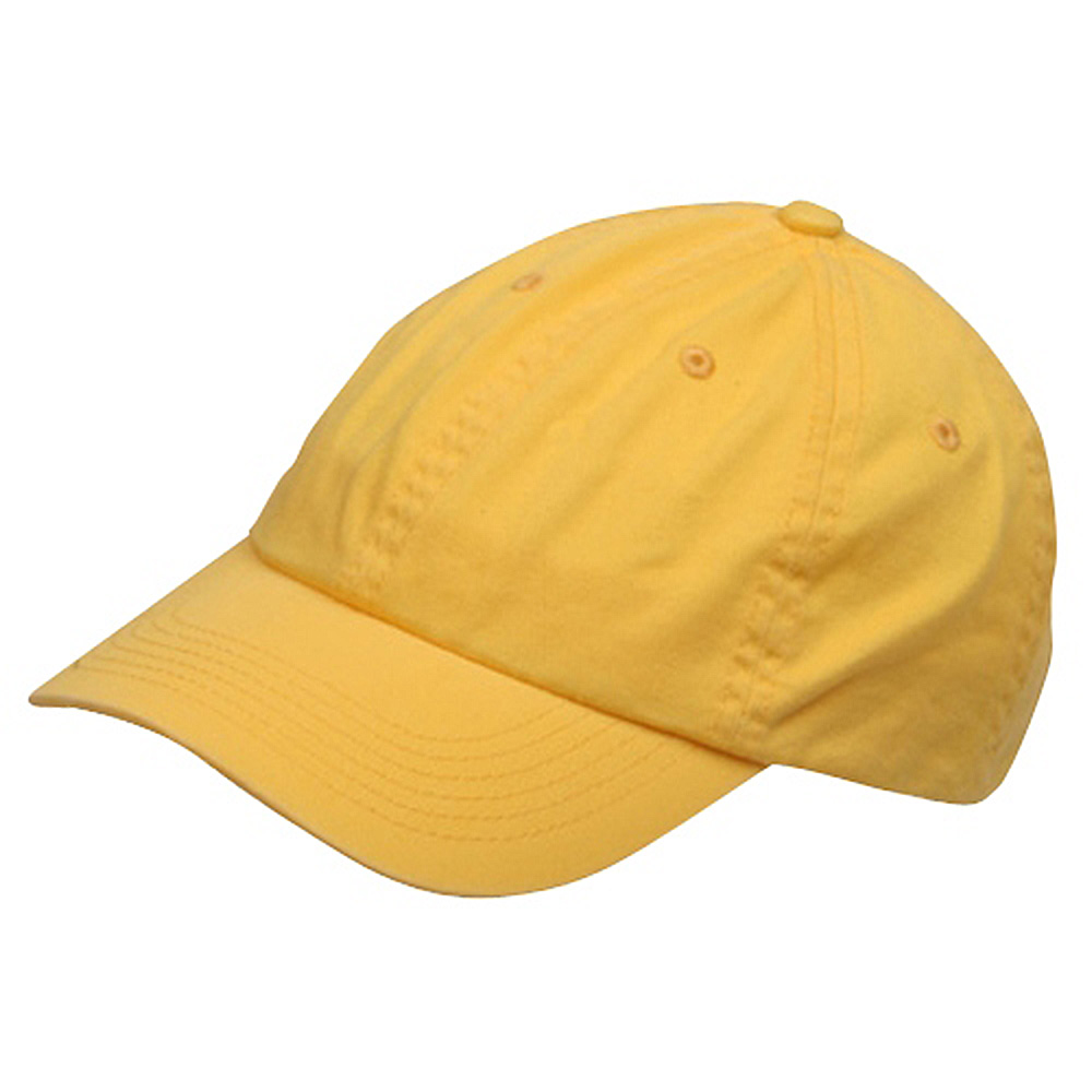 Youth Washed Chino Twill Cap-Yellow - Hats and Caps Online Shop - Hip Head Gear
