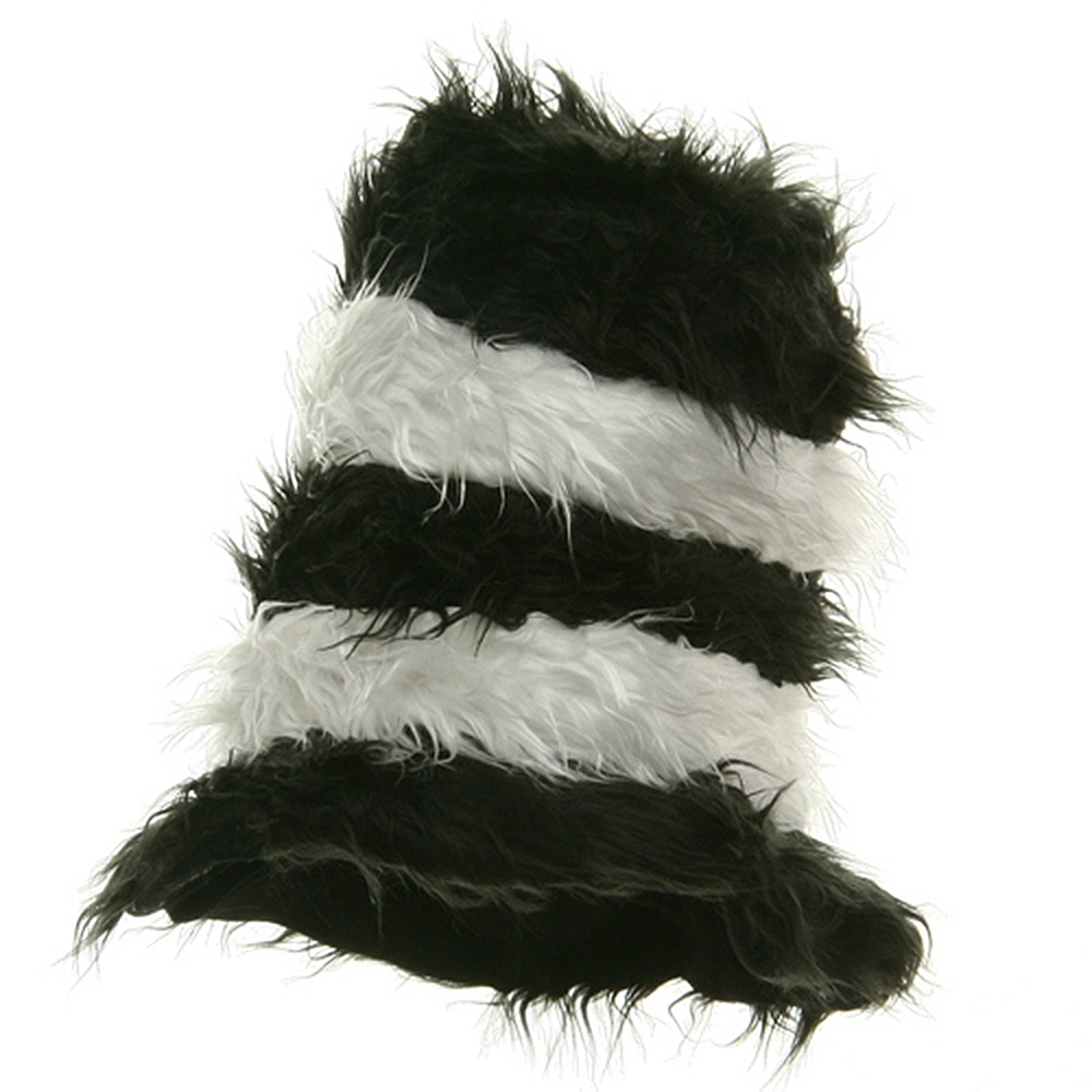 Furry Kool Kat Hat-Black and White - Hats and Caps Online Shop - Hip Head Gear