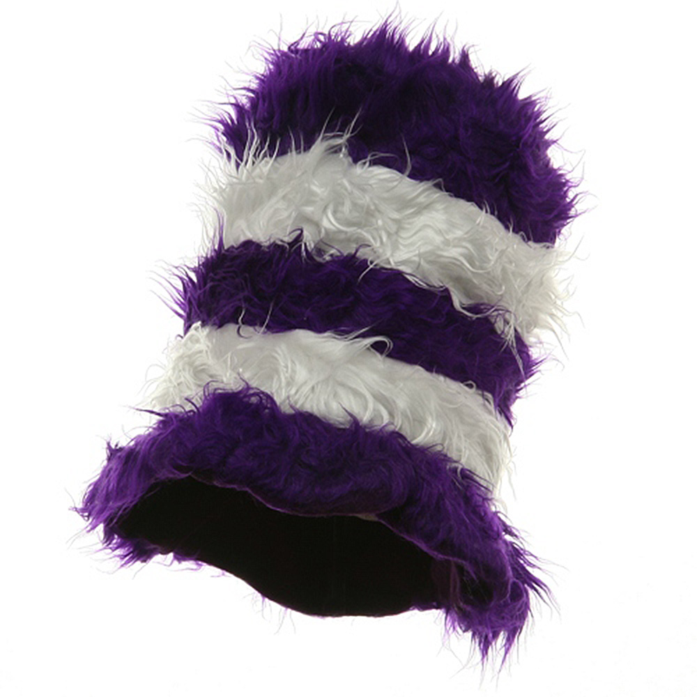 Furry Kool Kat Hat-Purple and White - Hats and Caps Online Shop - Hip Head Gear