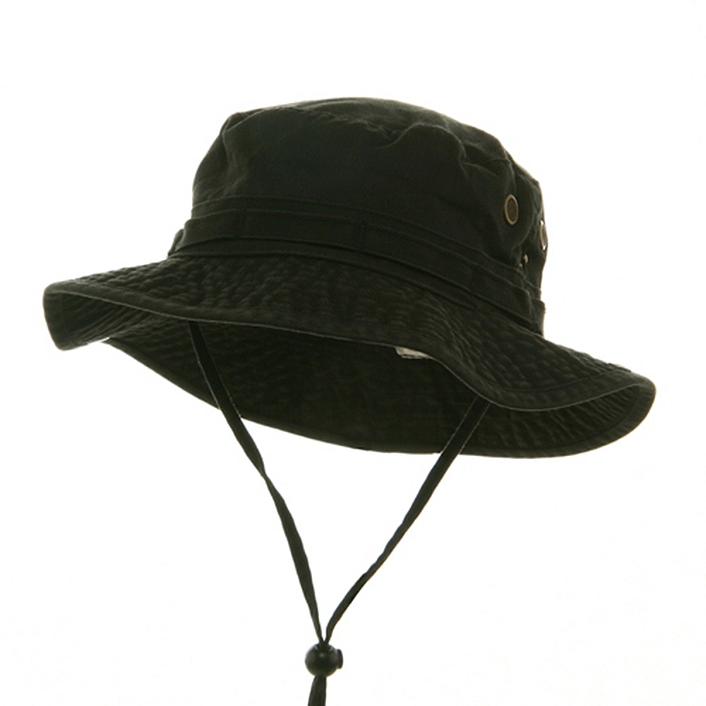 Washed Hunting Hat-Black - Hats and Caps Online Shop - Hip Head Gear