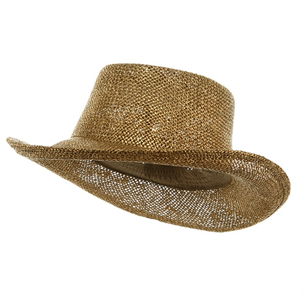 New Gambler Straw Hats-Gold - Hats and Caps Online Shop - Hip Head Gear
