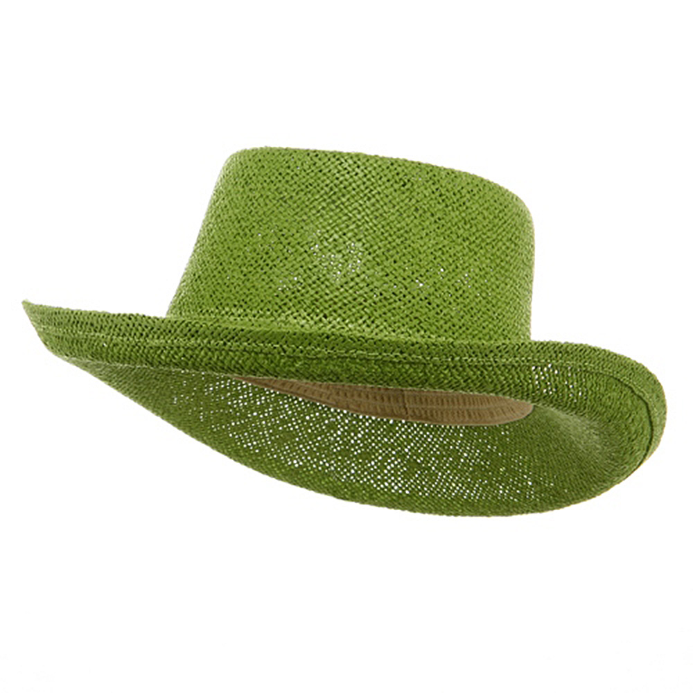 New Gambler Straw Hats-Lime - Hats and Caps Online Shop - Hip Head Gear