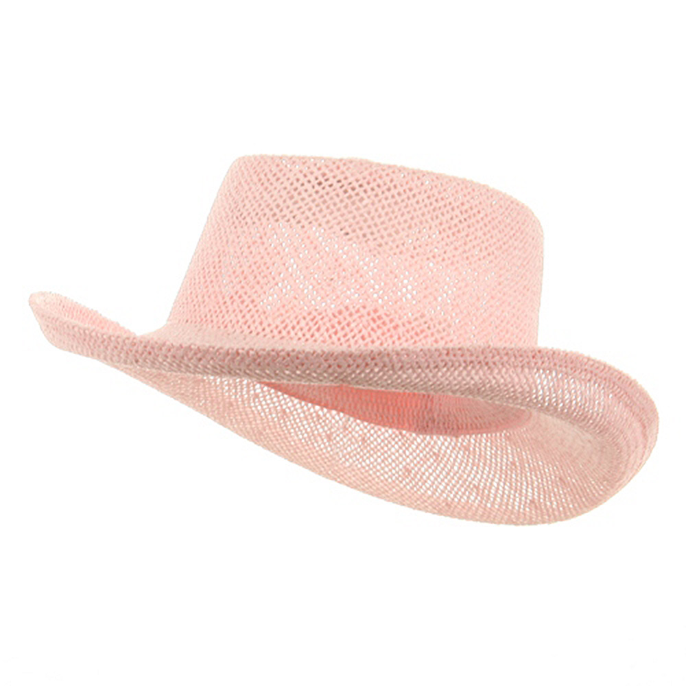 New Gambler Straw Hats-Pink - Hats and Caps Online Shop - Hip Head Gear
