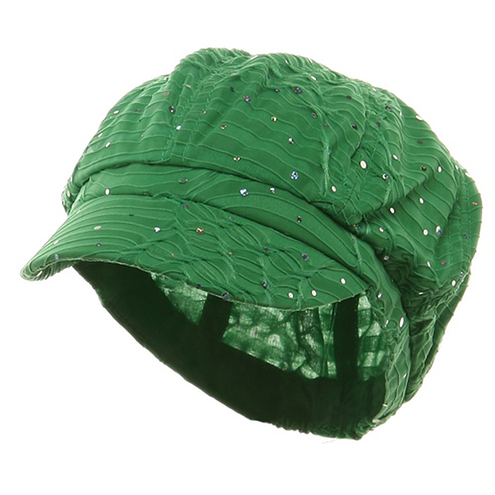 Glitter Newsboy Cap-Green - Hats and Caps Online Shop - Hip Head Gear