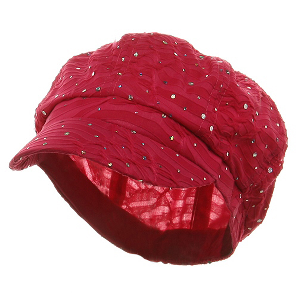 Glitter Newsboy Cap-Fuchsia - Hats and Caps Online Shop - Hip Head Gear