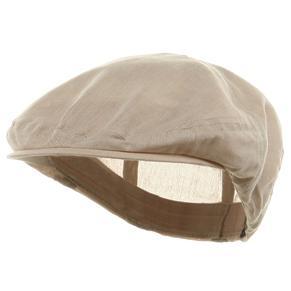 Linen Fashion Ivy Cap - Khaki - Hats and Caps Online Shop - Hip Head Gear