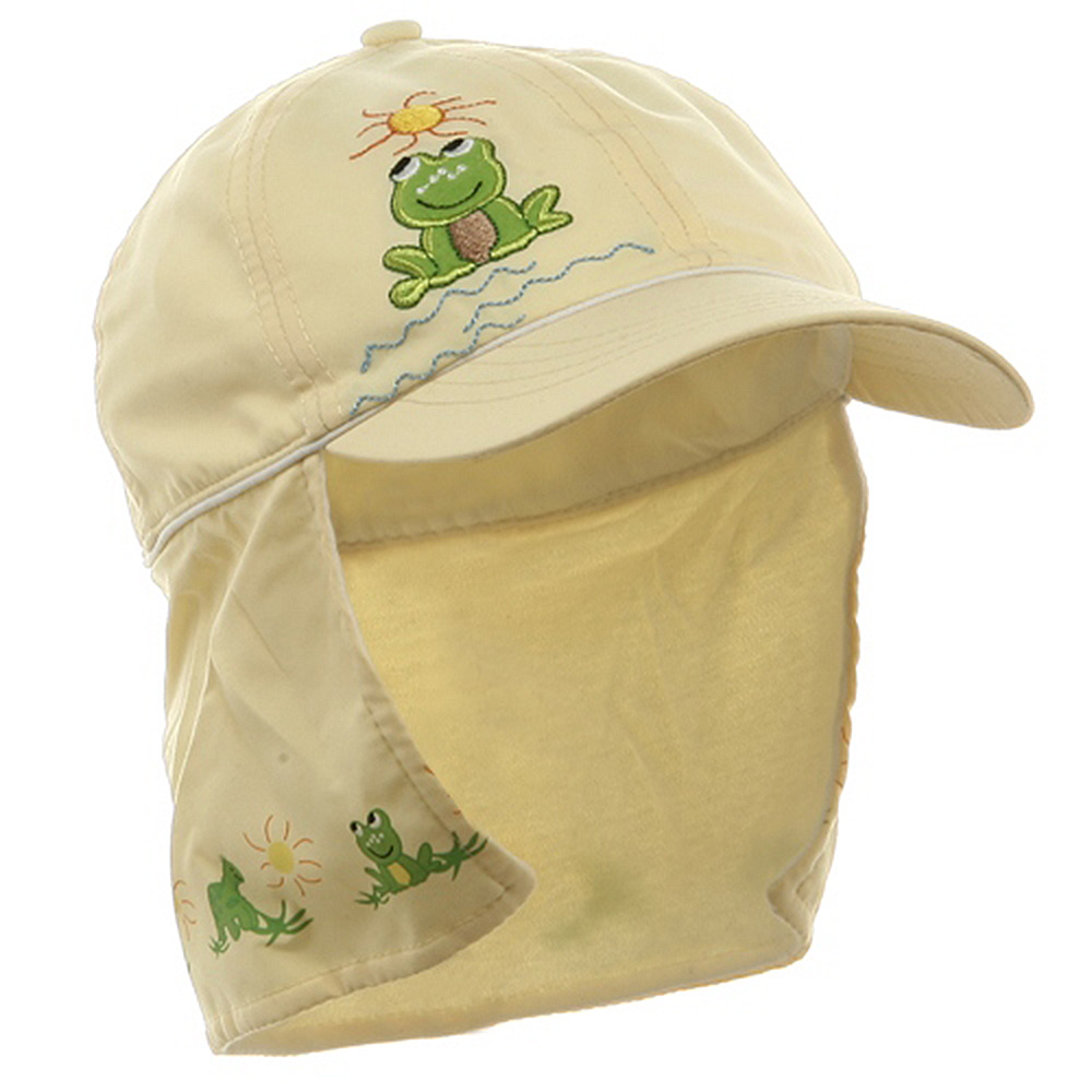 Children Micro Fiber Flap Cap - Yellow - Hats and Caps Online Shop - Hip Head Gear