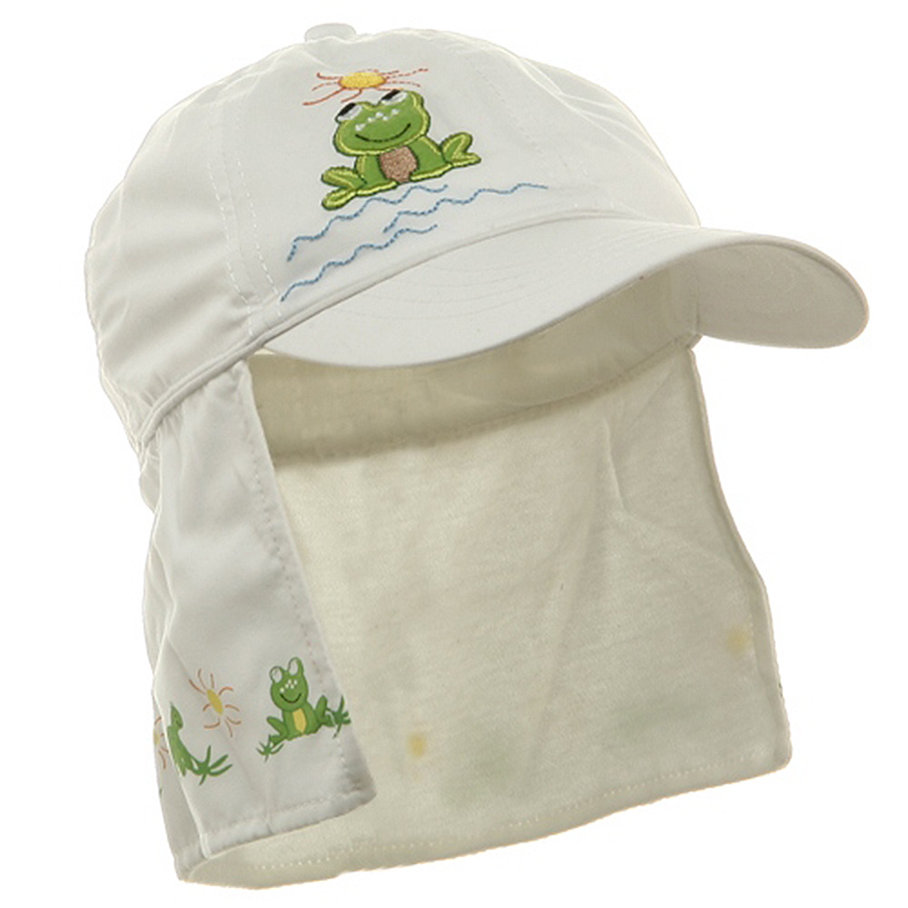Children Micro Fiber Flap Cap - White - Hats and Caps Online Shop - Hip Head Gear