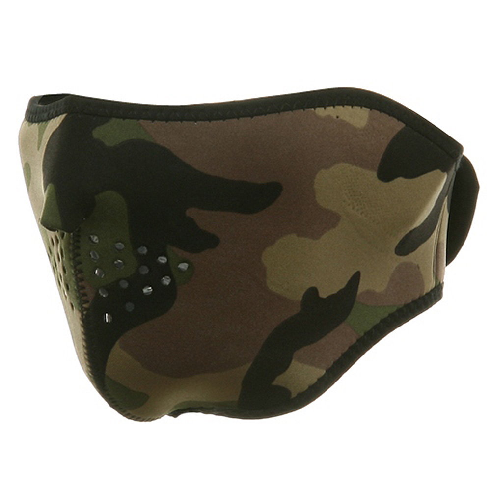 Neoprene Half Face Mask - Woodland - Hats and Caps Online Shop - Hip Head Gear