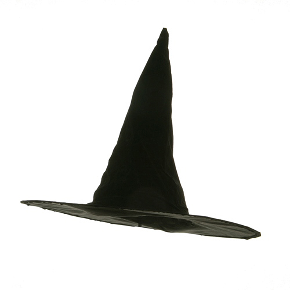 Flocked Plastic Witch Hat-Black - Hats and Caps Online Shop - Hip Head Gear