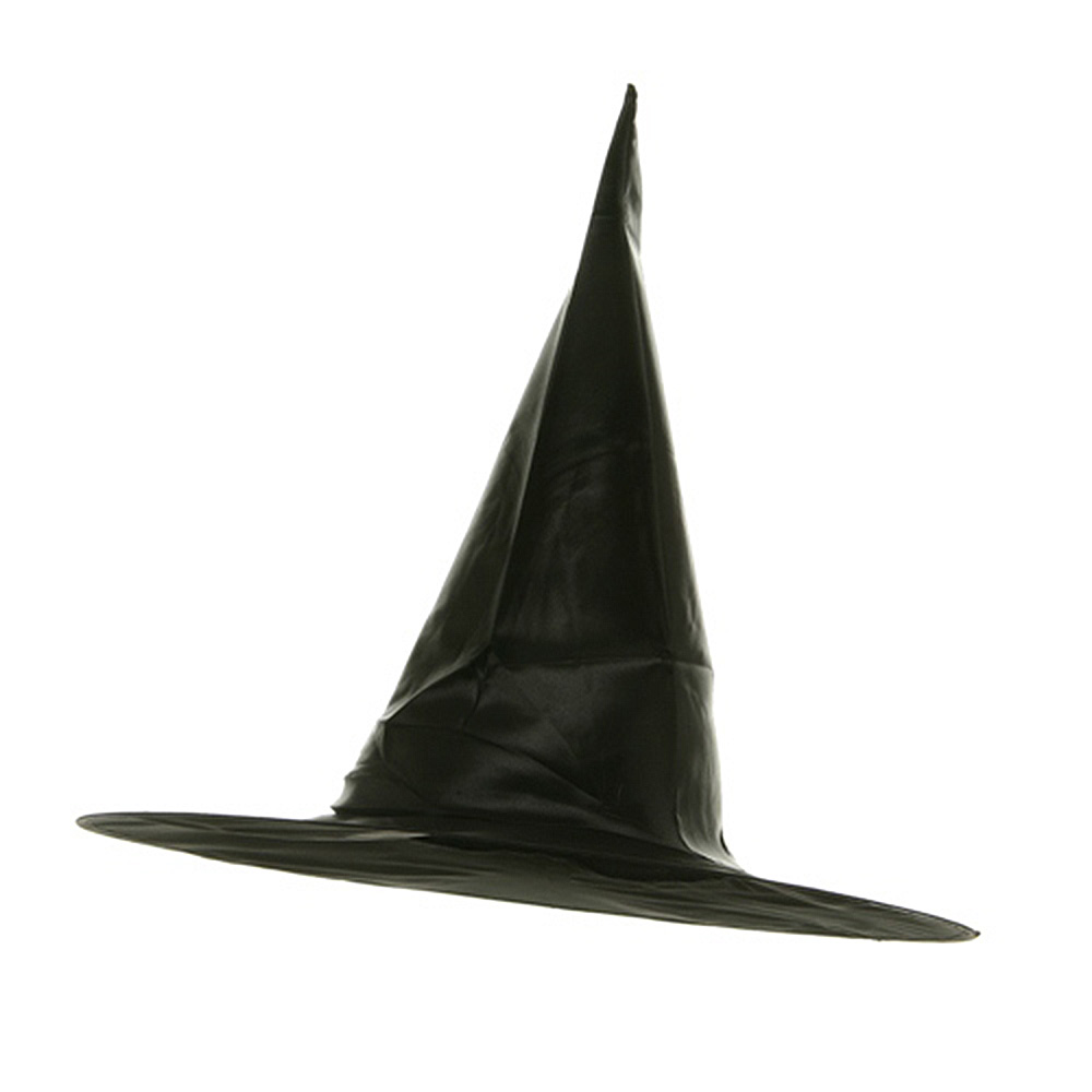 Satin Witch Hat-Black - Hats and Caps Online Shop - Hip Head Gear