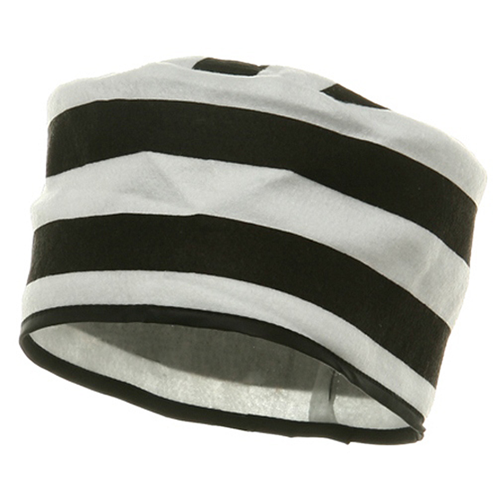 Felt Prisoner Hat-Black White - Hats and Caps Online Shop - Hip Head Gear