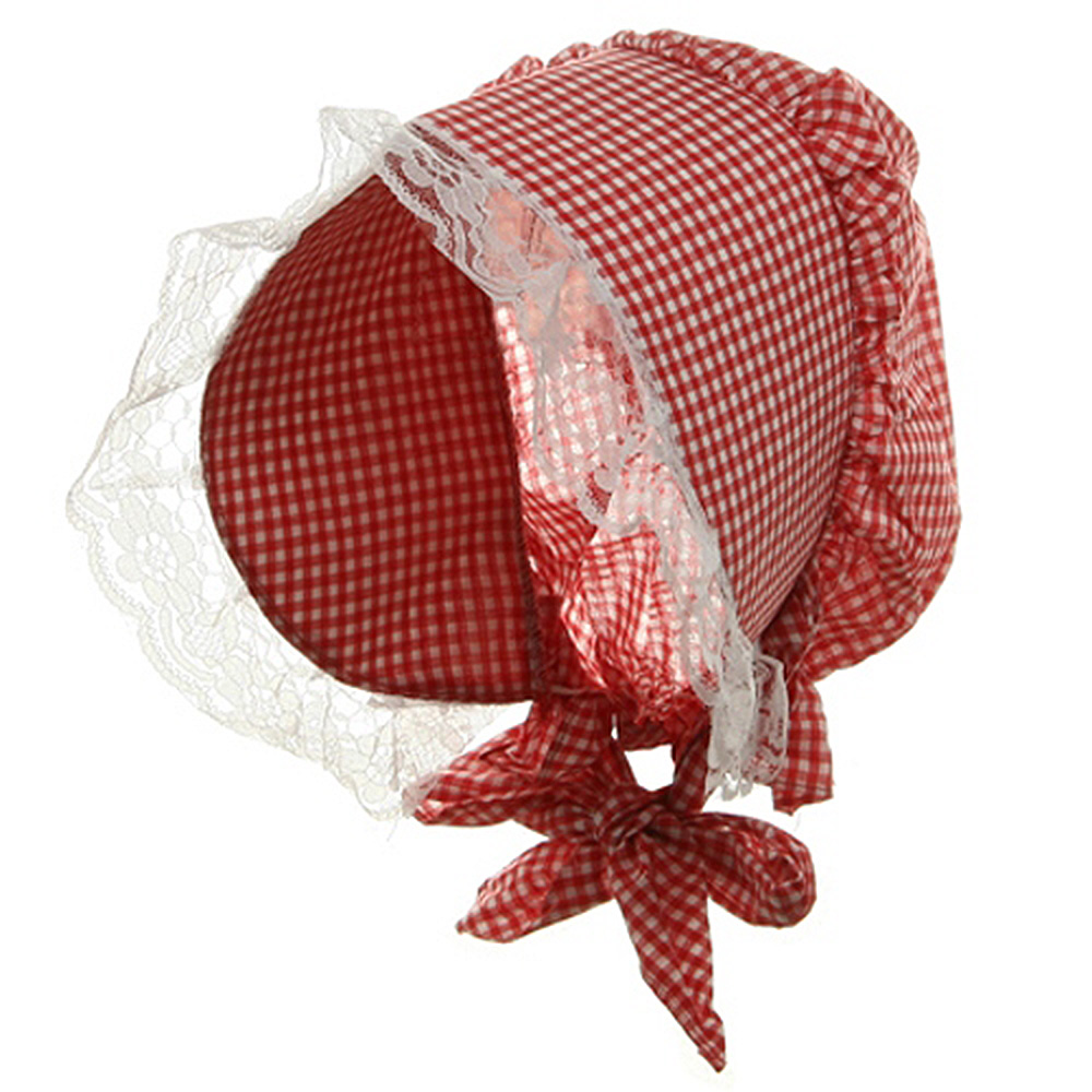 Bonnet Hat-Red White - Hats and Caps Online Shop - Hip Head Gear
