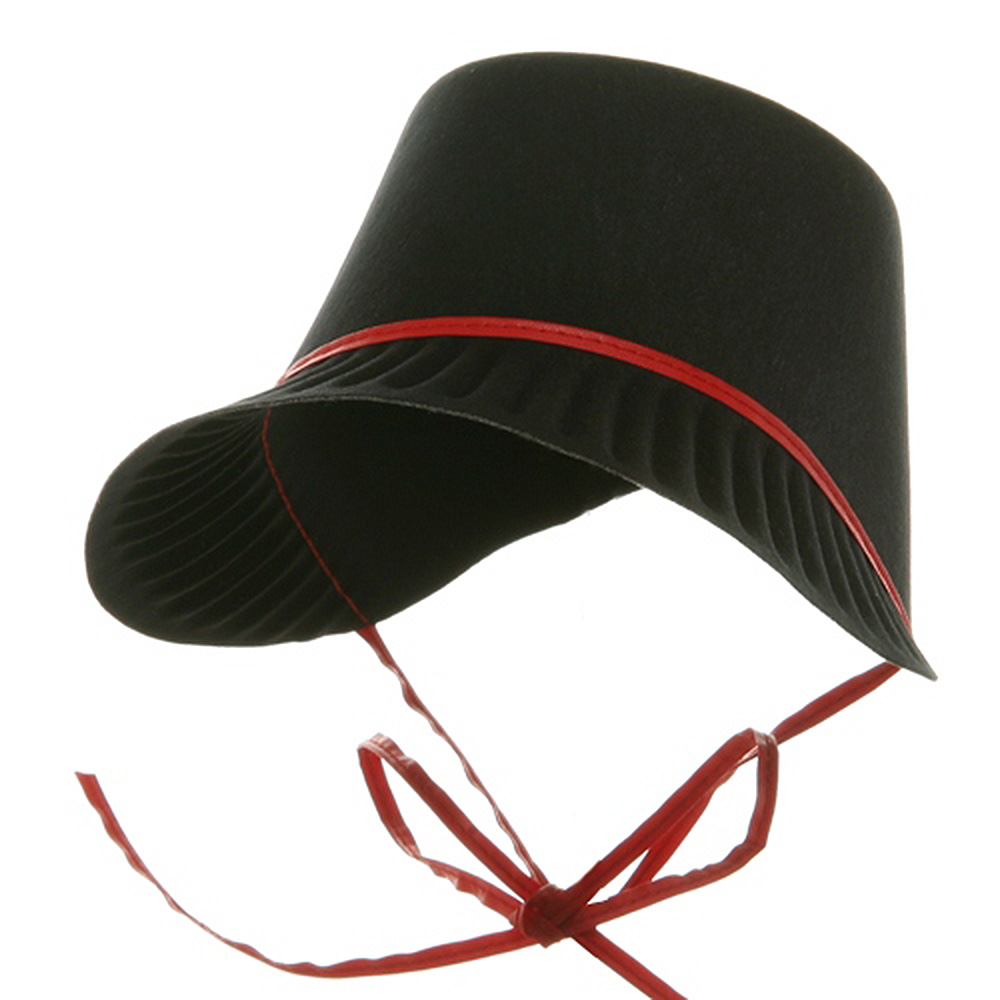 Thanksgiving Permafelt Pilgrim Bonnet-Red - Hats and Caps Online Shop - Hip Head Gear
