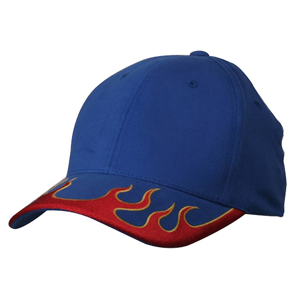 Fitted Flame Cap-Royal Red Yellow - Hats and Caps Online Shop - Hip Head Gear