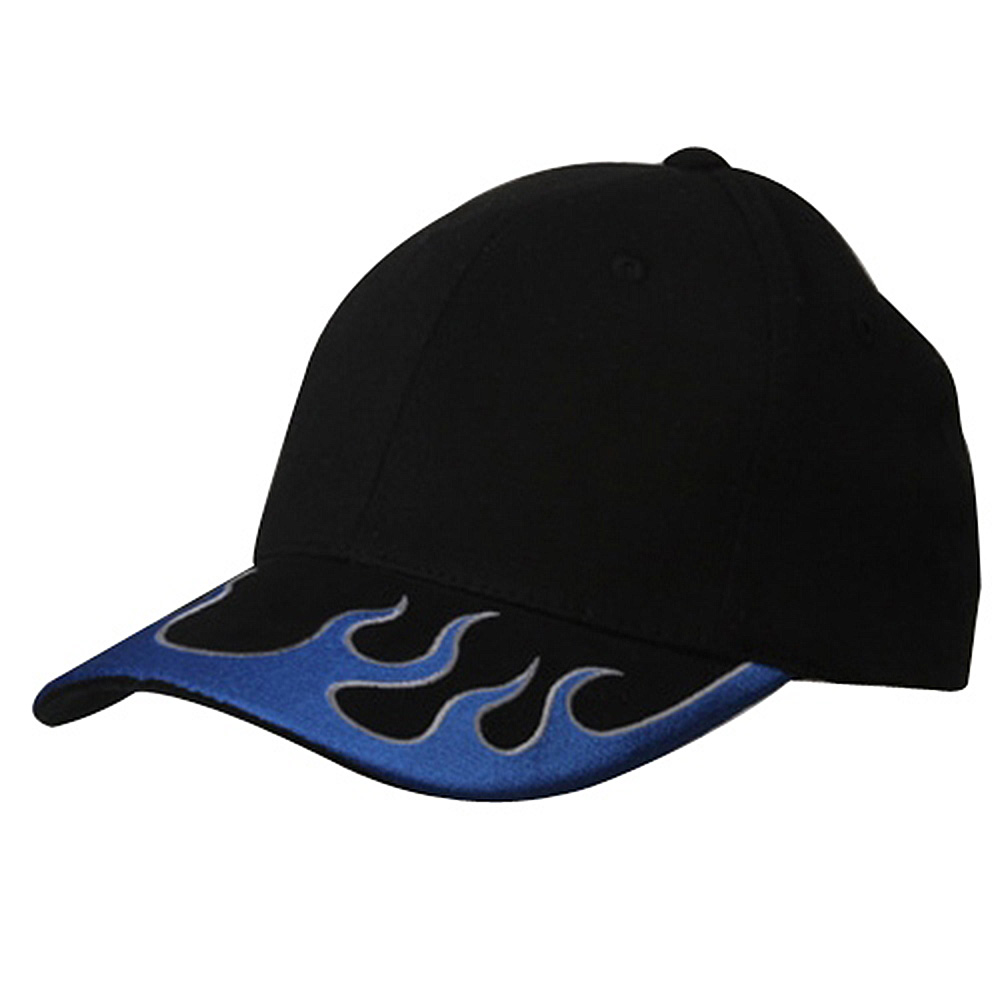 Fitted Flame Cap-Black Blue Grey - Hats and Caps Online Shop - Hip Head Gear