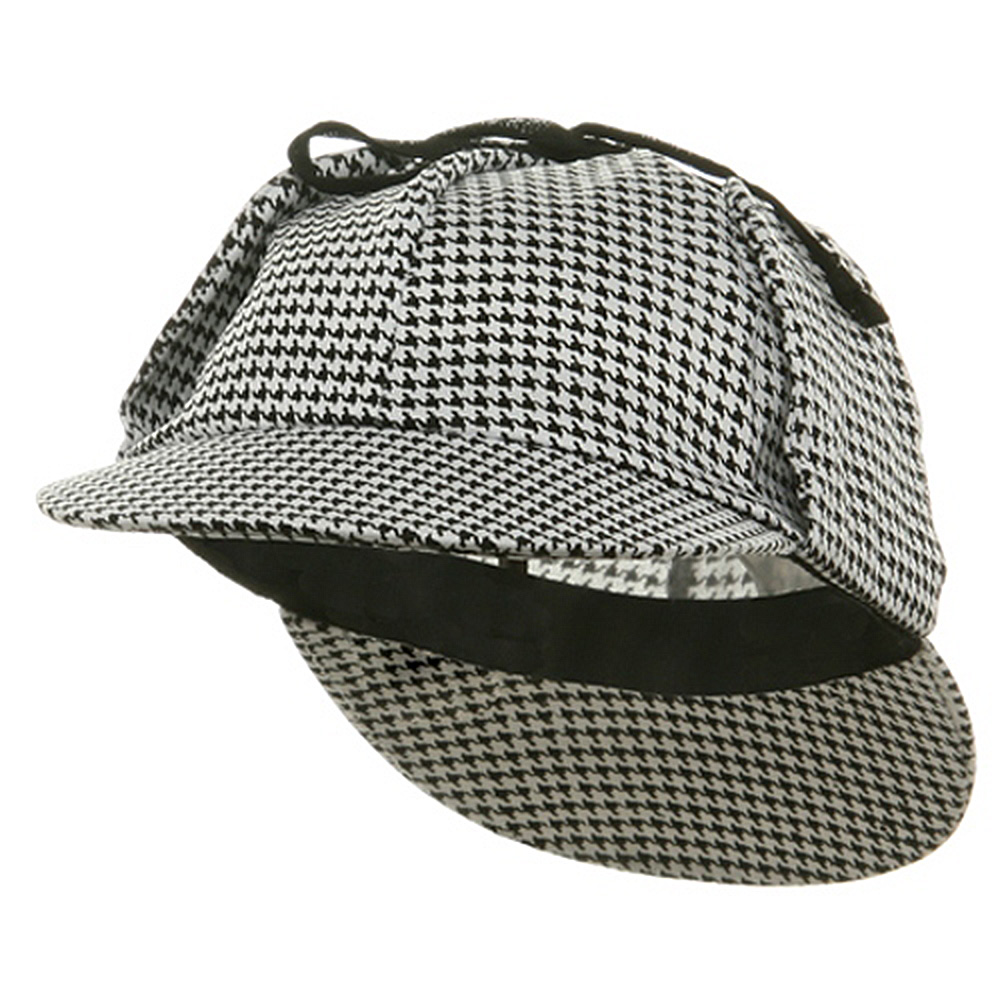 Sherlock Holmes Cap-White Black - Hats and Caps Online Shop - Hip Head Gear