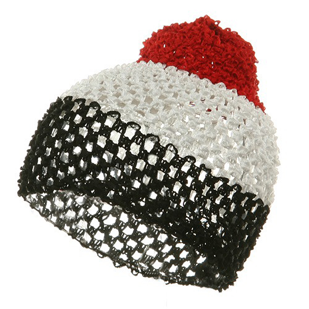 Ballerina Hair Net Cap-Red White Black - Hats and Caps Online Shop - Hip Head Gear