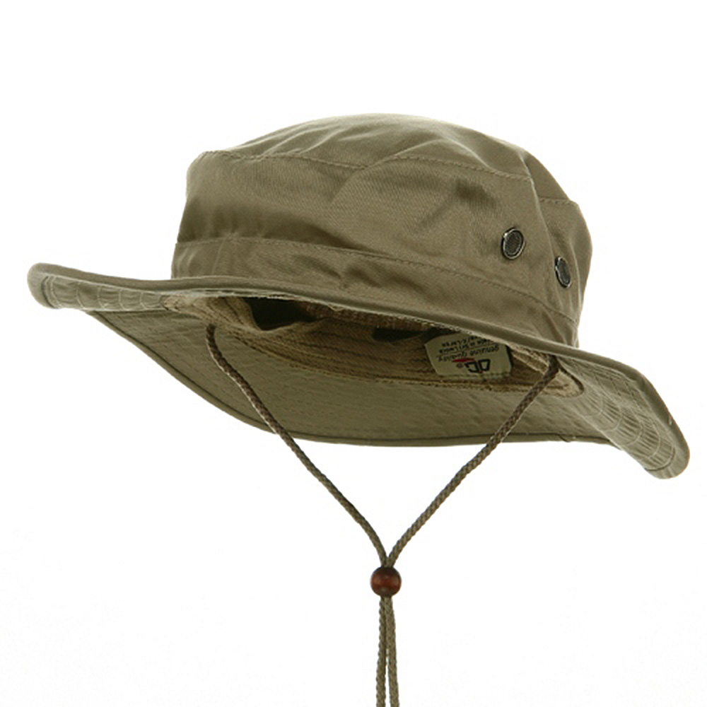 Cotton Twill Bucket Hats-Khaki - Hats and Caps Online Shop - Hip Head Gear