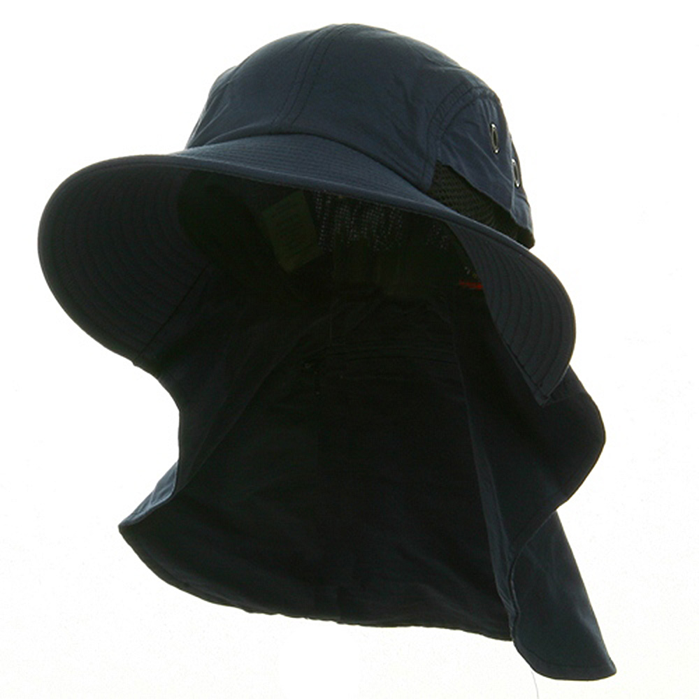 Big Size UV 45+ Extreme Condition Flap Hats -Navy