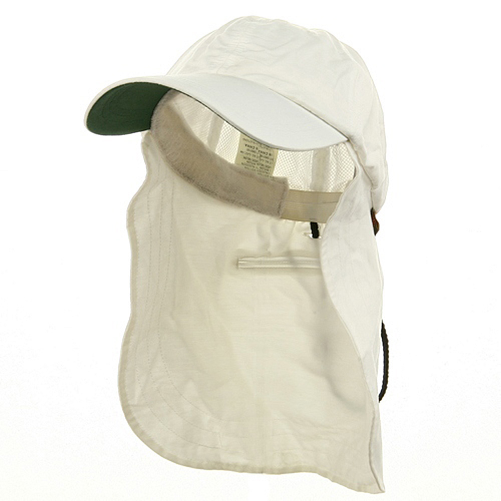 UV 45+ Zipper Flap Hat-White - Hats and Caps Online Shop - Hip Head Gear