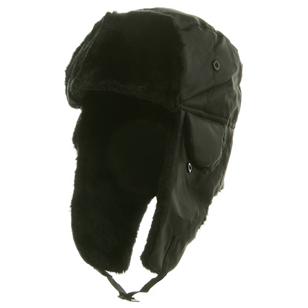 Polyester Pile Trim Trooper Hat - Black - Hats and Caps Online Shop - Hip Head Gear