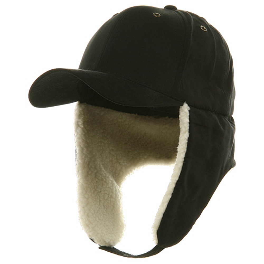 Suede Winter Flap Cap-Black - Hats and Caps Online Shop - Hip Head Gear