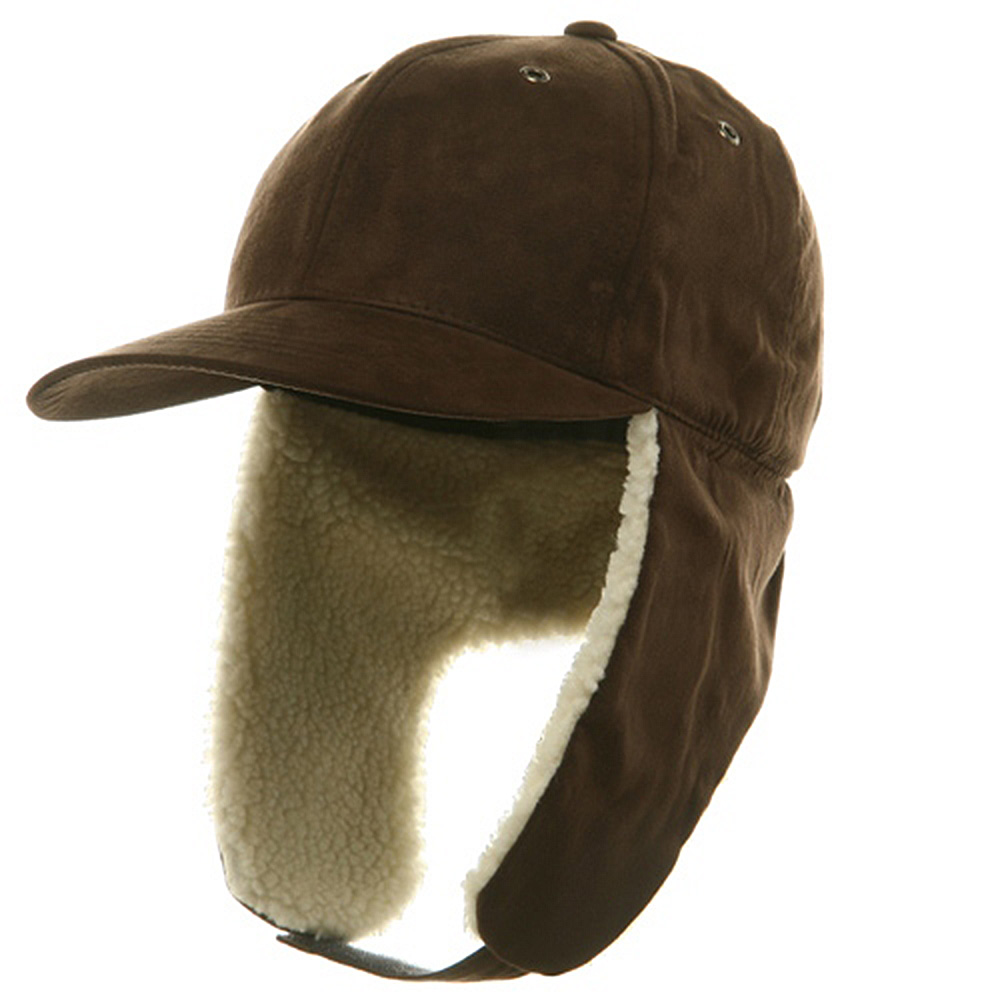 Suede Winter Flap Cap-Brown - Hats and Caps Online Shop - Hip Head Gear