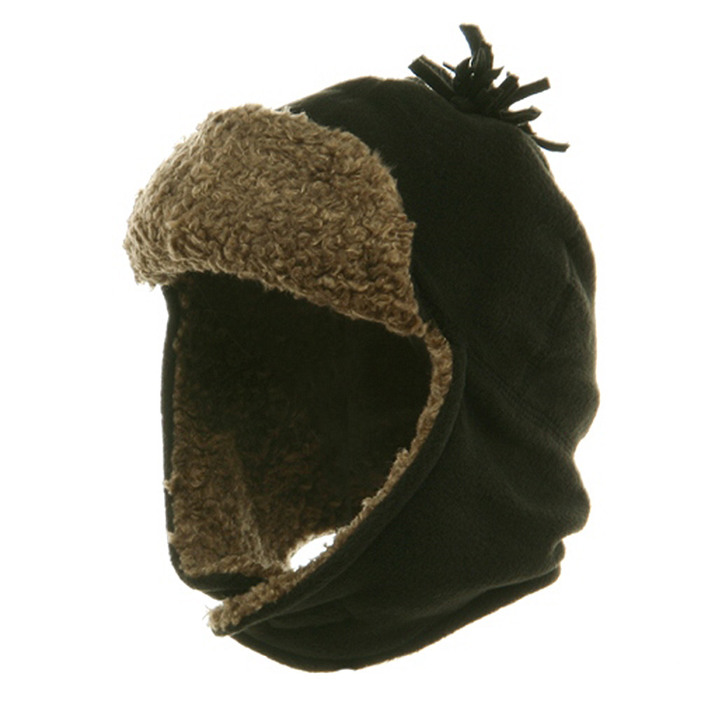 Fur Fleece Hat with Ear Cover - Black - Hats and Caps Online Shop - Hip Head Gear