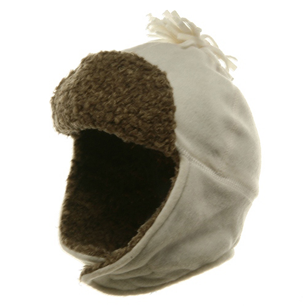 Fur Fleece Hat with Ear Cover - Ivory - Hats and Caps Online Shop - Hip Head Gear