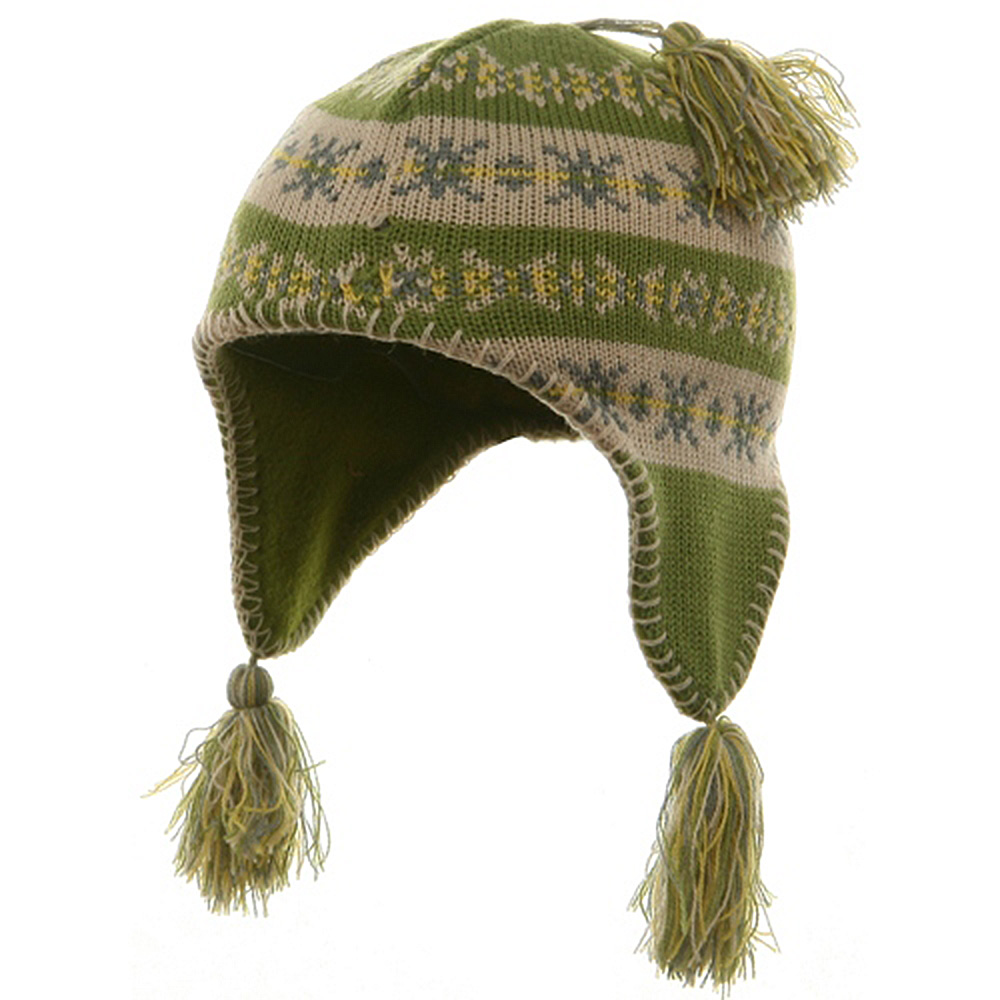 Girl's Knit Helmet - Lime - Hats and Caps Online Shop - Hip Head Gear