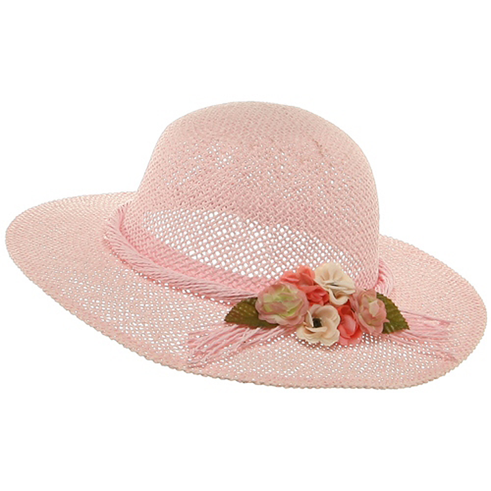 Girl's Twisted Toyo Hat-Pink - Hats and Caps Online Shop - Hip Head Gear