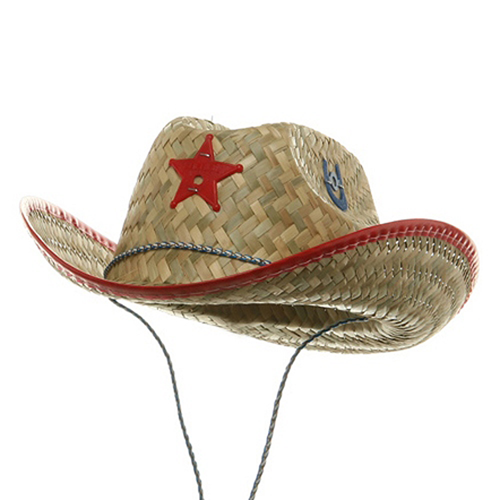 Child Sheriff Straw Hat-Red - Hats and Caps Online Shop - Hip Head Gear