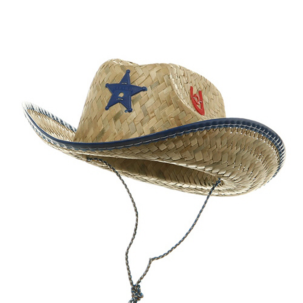 Child Sheriff Straw Hat-Royal - Hats and Caps Online Shop - Hip Head Gear