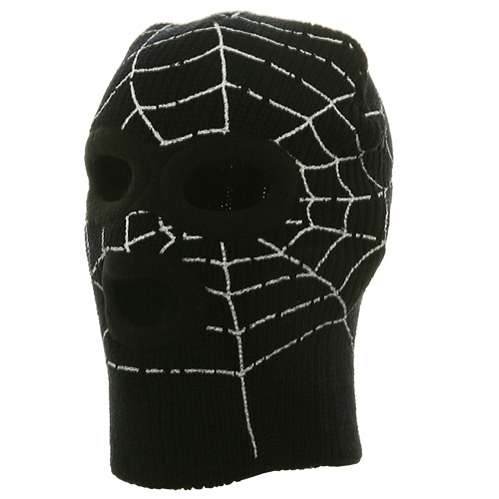Super Hero Spiderman Ski Mask-Black