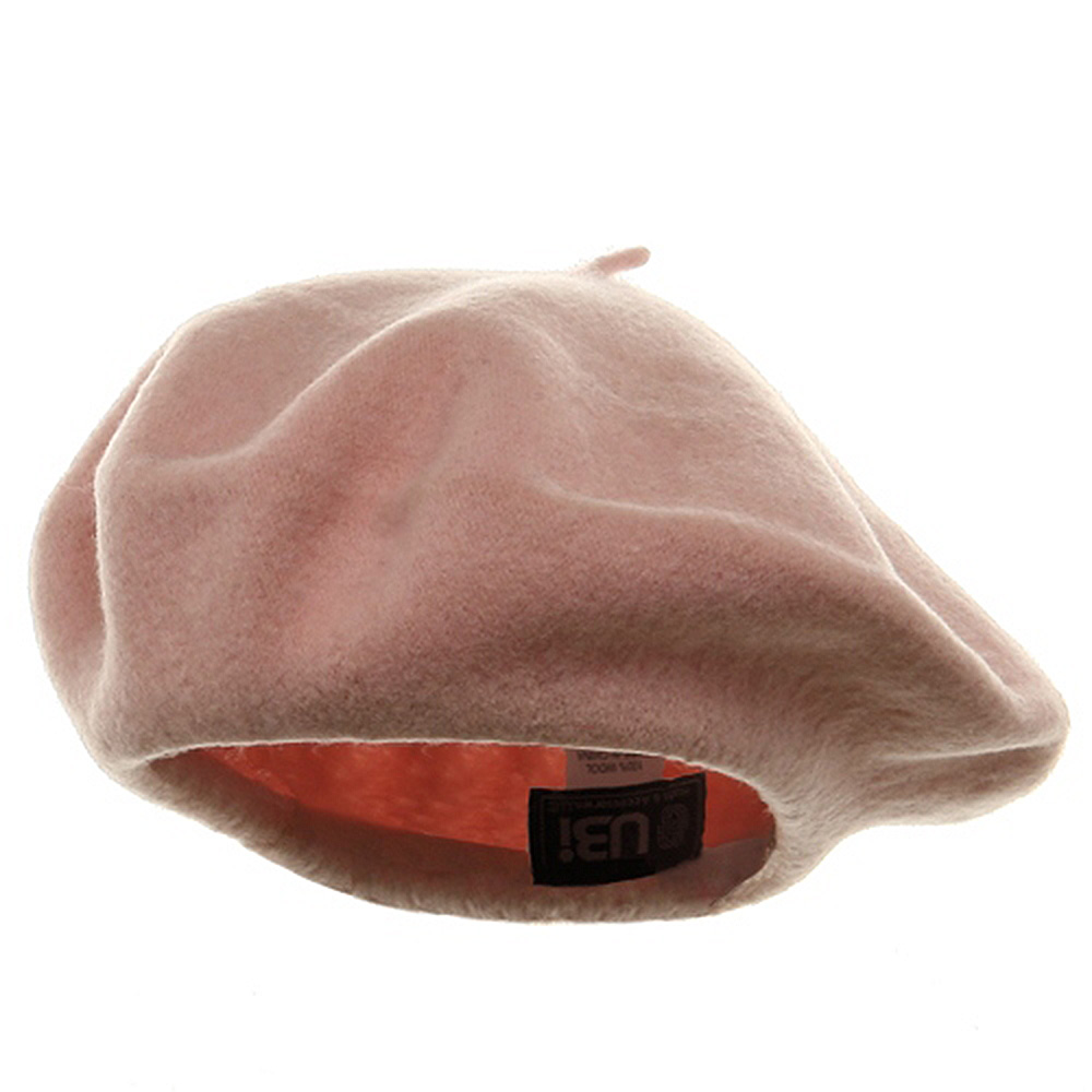 Wool Beret - Pink - Hats and Caps Online Shop - Hip Head Gear