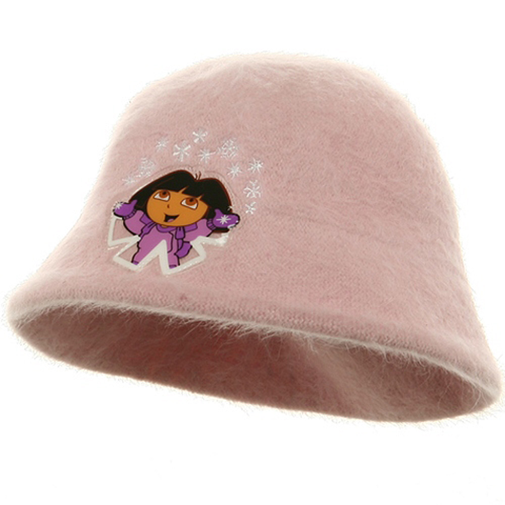 Dora Girl's Mohair Bucket Hat-Pink - Hats and Caps Online Shop - Hip Head Gear