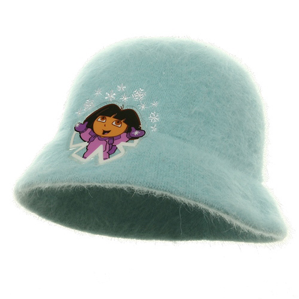 Dora Girl's Mohair Bucket Hat-Blue - Hats and Caps Online Shop - Hip Head Gear