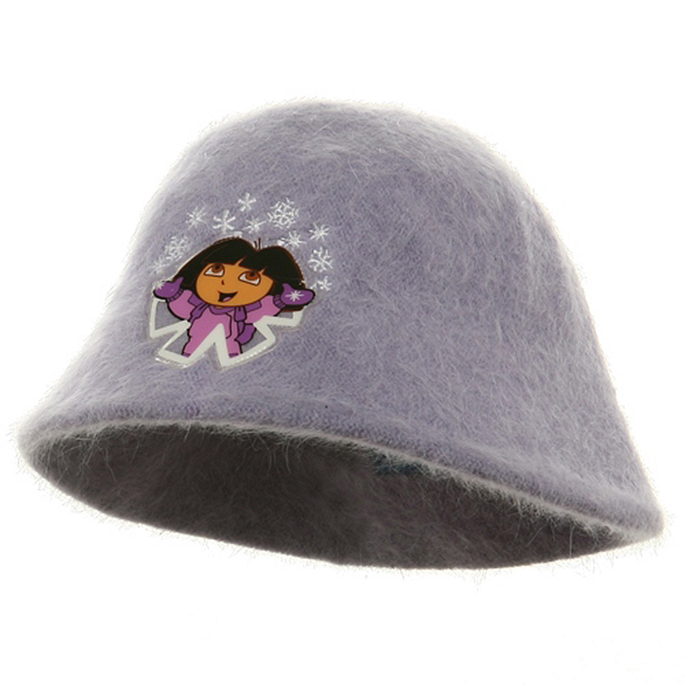 Dora Girl's Mohair Bucket Hat-Purple - Hats and Caps Online Shop - Hip Head Gear