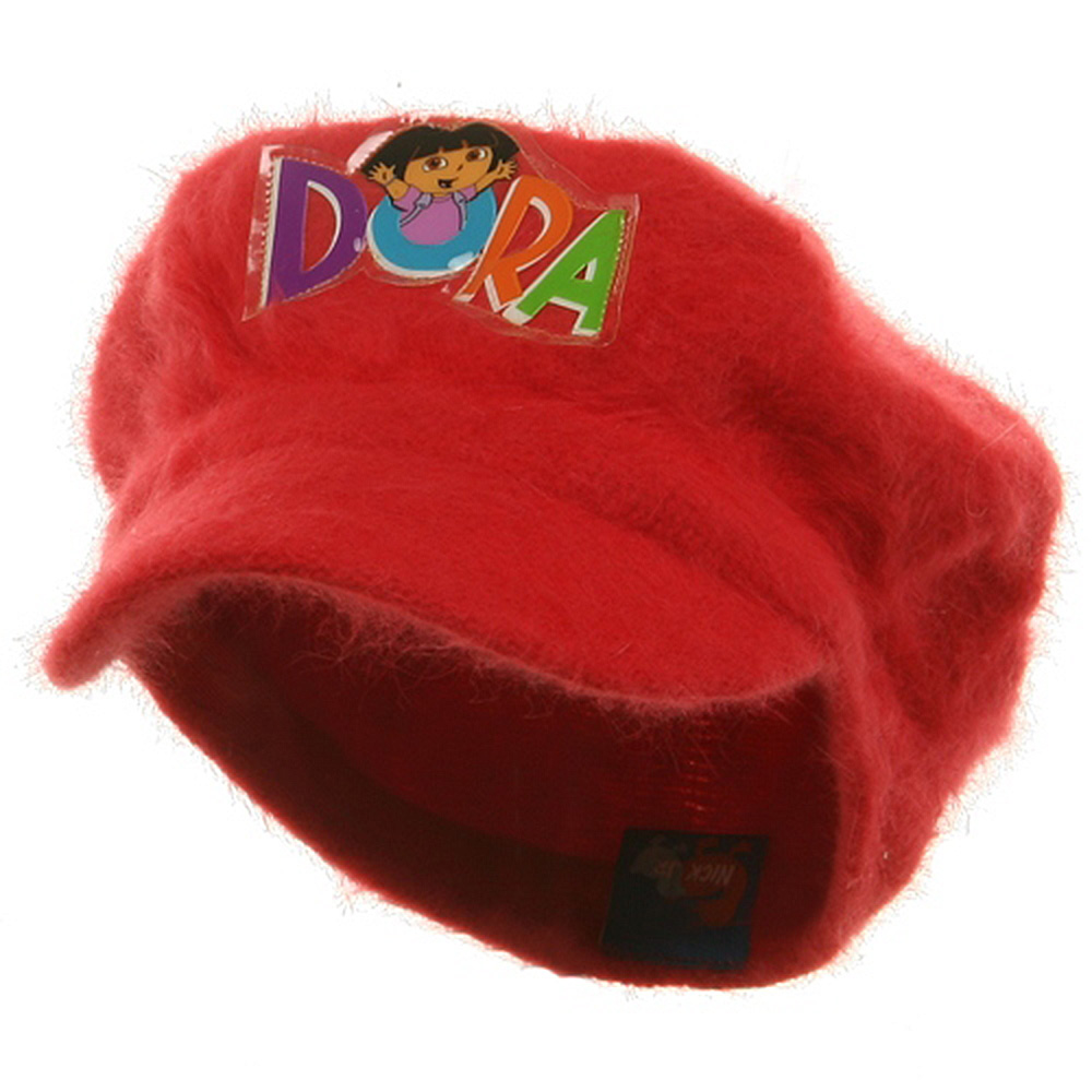 Dora Girl's Mohair Newsboy Cap-Red - Hats and Caps Online Shop - Hip Head Gear
