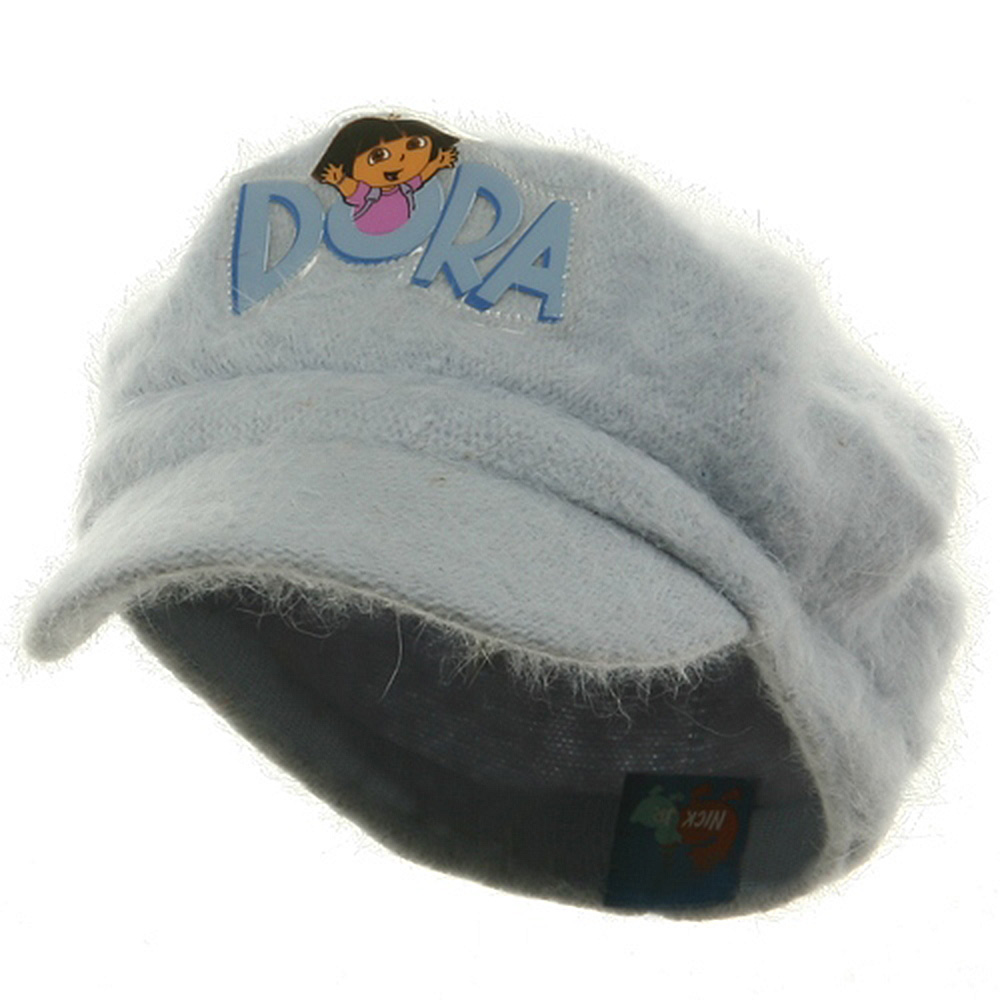 Dora Girl's Mohair Newsboy Cap-Blue - Hats and Caps Online Shop - Hip Head Gear
