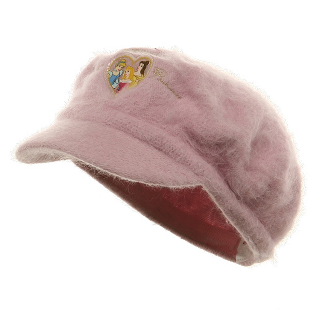 Princess Girl's Mohair Newsboy Cap-Pink
